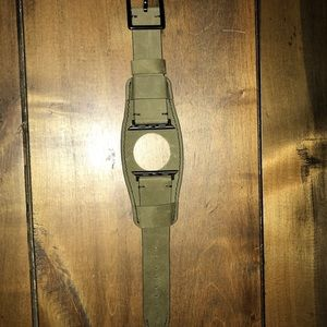 Accessories - Compatible Apple Watch Band Leather Cuff NWOT